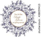 vintage delicate invitation... | Shutterstock .eps vector #438059413