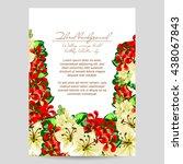 vintage delicate invitation... | Shutterstock .eps vector #438067843