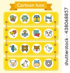 icon set zoo vector | Shutterstock .eps vector #438068857