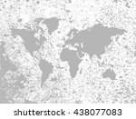 vintage world map.old map of... | Shutterstock .eps vector #438077083