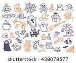 set of halloween doodle | Shutterstock .eps vector #438078577