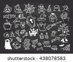 set of halloween doodle | Shutterstock .eps vector #438078583