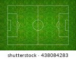 soccer field or football field... | Shutterstock . vector #438084283