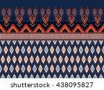 geometric ethnic ikat pattern... | Shutterstock .eps vector #438095827
