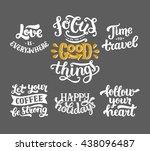 vector photo overlays  hand... | Shutterstock .eps vector #438096487