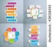 four templates for presentation....   Shutterstock .eps vector #438108343