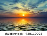 sunrise over the lagoon in the... | Shutterstock . vector #438110023
