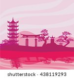 chinese landscape | Shutterstock .eps vector #438119293
