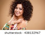 close up portrait of beautiful... | Shutterstock . vector #438132967