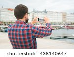 young bearded man taking a... | Shutterstock . vector #438140647