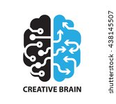 creative brain  icon and symbol | Shutterstock .eps vector #438145507