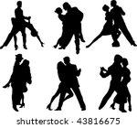 set of tango dancers...