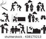 cigarette and health icon set | Shutterstock .eps vector #438175213