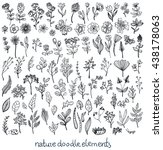 doodle sketch nature collection ... | Shutterstock .eps vector #438178063