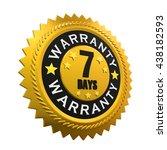 7 days warranty sign. 3d... | Shutterstock . vector #438182593