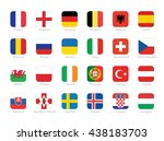 flags of participating... | Shutterstock .eps vector #438183703