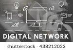 digital network communication... | Shutterstock . vector #438212023