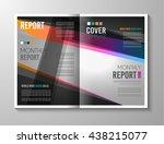 brochure template  flyer design ...   Shutterstock . vector #438215077