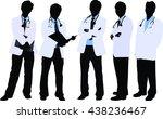 doctors in silhouette | Shutterstock .eps vector #438236467