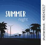 vector illustration. palm trees ... | Shutterstock .eps vector #438243217