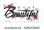 embroidery for fashion with... | Shutterstock .eps vector #438245683