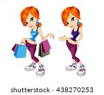 cute fashion girl | Shutterstock .eps vector #438270253