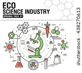modern eco science industry.... | Shutterstock .eps vector #438270613