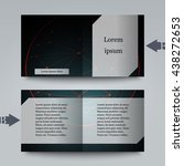 brochure template with abstract ... | Shutterstock .eps vector #438272653