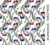 garden forest flowers... | Shutterstock . vector #438274033