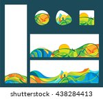 summer travel   banners and...   Shutterstock .eps vector #438284413