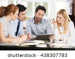 confident businessmen and... | Shutterstock . vector #438307783