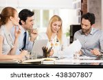young businesspeople in a... | Shutterstock . vector #438307807