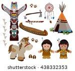 traditional indian symbols set...   Shutterstock .eps vector #438332353