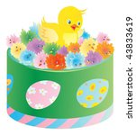 green box with little of... | Shutterstock .eps vector #43833619