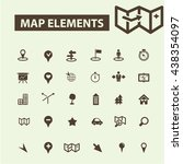 map elements icons | Shutterstock .eps vector #438354097