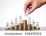 money chess game business  the... | Shutterstock . vector #438359323