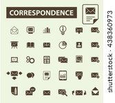 correspondence icons | Shutterstock .eps vector #438360973