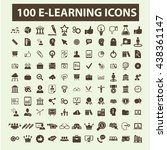 learning icons | Shutterstock .eps vector #438361147