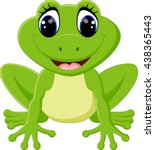 cute frog cartoon | Shutterstock .eps vector #438365443