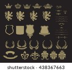 collection of gold heraldic... | Shutterstock .eps vector #438367663