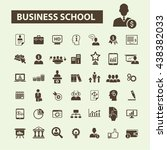 business school icons | Shutterstock .eps vector #438382033
