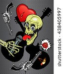 dj human skull microphone