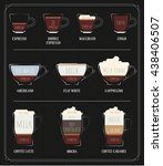 set of kinds of coffee.   Shutterstock .eps vector #438406507