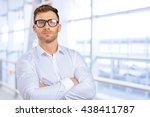 businessman portrait | Shutterstock . vector #438411787