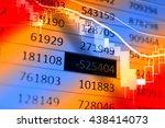 stock market chart which... | Shutterstock . vector #438414073