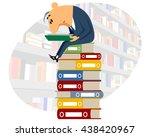 vector illustration of a clerk...   Shutterstock .eps vector #438420967