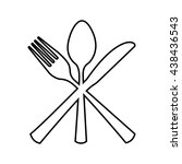 table cutlery  isolated icon... | Shutterstock .eps vector #438436543