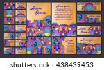 colorful greeting invitation... | Shutterstock .eps vector #438439453