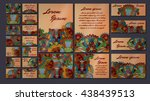 colorful greeting invitation... | Shutterstock .eps vector #438439513