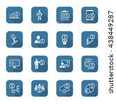 flat web icons set. money icon. ... | Shutterstock .eps vector #438449287